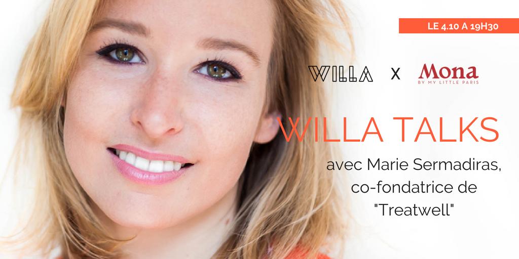 L'apéro kit de survie et anti-bullshit pour entrepreneurEs. WILLA propose une conversation décomplexée avec Marie Sermadiras, co-fondatrice de Treatwell.